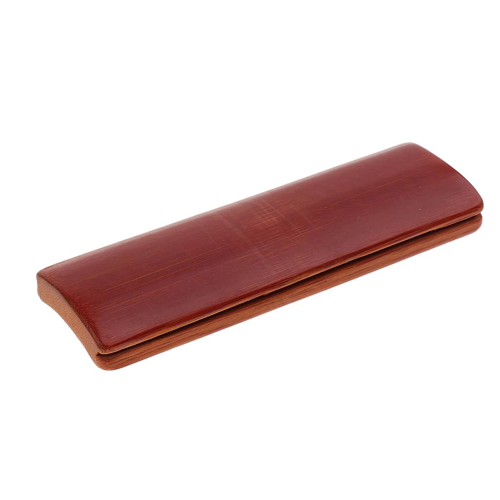 Tooyful Professional 4pcs Bamboo Clappers Castanets Yuzi Plates Boards for Comic Dialogue Perform Practice Accessory